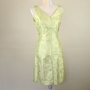 Jones New York Chartreuse Embroidered 100% Silk